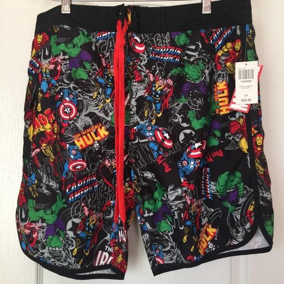 e4c5640758 Marvel Men's Swim Trunks Size Large. M_5acbf46a077b97a76d72172e